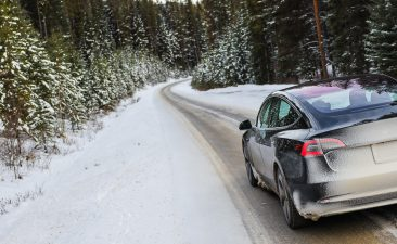 auto in de winter